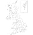 Outline United Kingdom map vector image vector image
