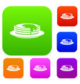 pancakes set collection vector image vector image