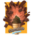 paper cut chocolate ice cream poster vector image