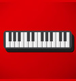 piano icon vector image vector image