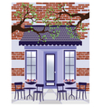 Provence style Cafe outdoors vector image