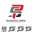 psg letter based monogram symbol vector image