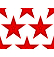 red star pattern vector image vector image