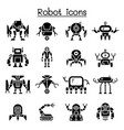 robot icon set graphic design vector image