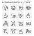 robot robotic icon vector image