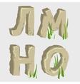 russian alphabet four letters series vector image