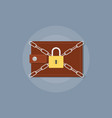 save your money with wallet and chain padlock vector image