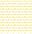 Scandinavian seamless yellow pattern in hand drawn vector image vector image