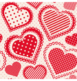 Seamless pattern with dotted hearts vector image