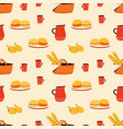 seamless pattern with foods elements vector image vector image