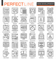 seo and development outline concept symbols vector image