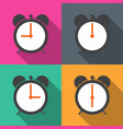 set alarm clocks with different time from morning vector image vector image