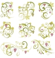 set of wine grapes design elements vector image vector image