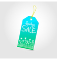 Spring sale tag 02 vector image vector image
