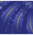 starry blue background vector image vector image