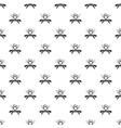 steak bbq house pattern seamless vector image