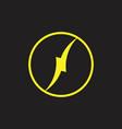 thunder circle simple geometric logo vector image vector image