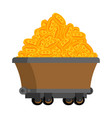 trolley of bitcoins isolated miner tool mining vector image vector image