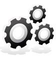 various gear wheel rack wheel graphics mechanics vector image vector image
