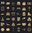 villa for sale icons set simple style vector image vector image