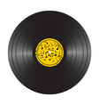 vinyl lp record disc black musical album vector image vector image