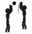 volleyball players are playing sign vector image vector image