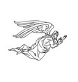 winged angel from orthodox icons heaven messenger