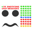 worried smile icon with bonus emoticon clipart vector image