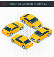 yellow sedan car vector image vector image