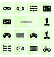 14 console icons vector image vector image