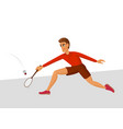 badminton player cartoon vector image