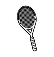 badminton racket isolated vector image vector image