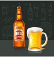 beer classic beverage type and glass set vector image vector image