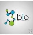 bio technology logo biology design vector image