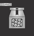 black and white style icon coffee package vector image vector image