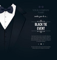 black tie event invitation elegant black and vector image vector image