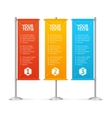 Blank Banner Flags Colorful Set With Text vector image vector image