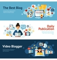 Blogger Banner Set vector image