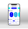 blue crypto currency wallet ui ux gui screen for vector image vector image