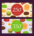 burger ingredients discount voucher or gift vector image vector image