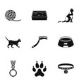 cat equipment icons set simple style vector image vector image