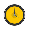 clock deadline icon flat style vector image vector image