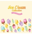 Colorful ice cream collection vector image vector image