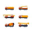 construction vehicles - modern flat design vector image