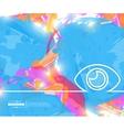 Creative eye Art template vector image