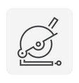 cutting equipment icon vector image