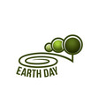 earth day nature ecology forest trees icon vector image vector image