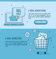 email marketing and email advertising infographic vector image