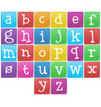 english alphabet from a to z vector image vector image