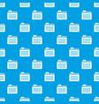 file folder pattern seamless blue vector image vector image